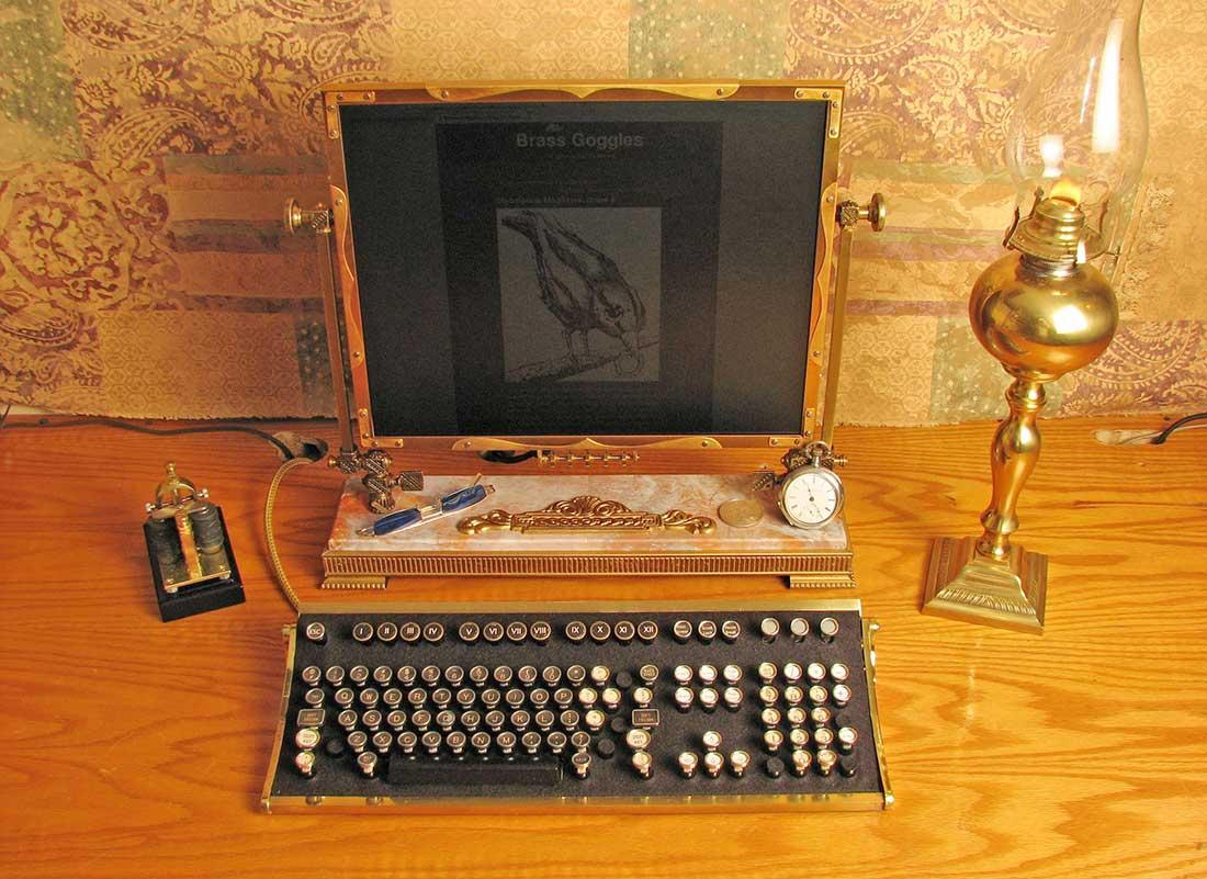 Рабочий стол в стиле стимпанк