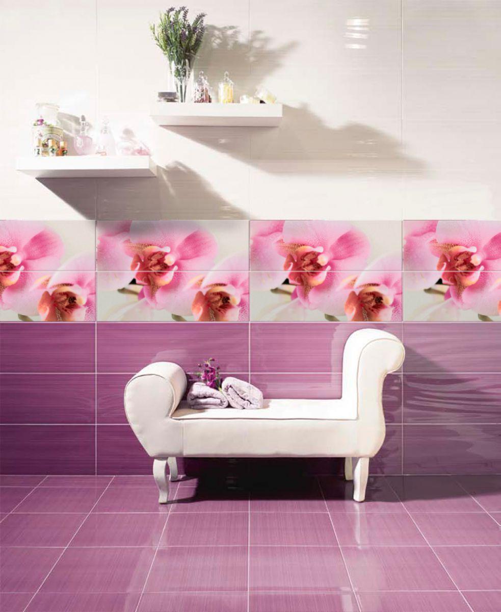 Белый пуф в интерьере розовой спальни