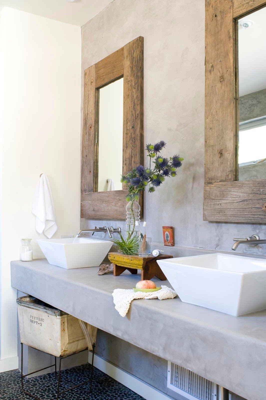 Бетонная столешница в ванной