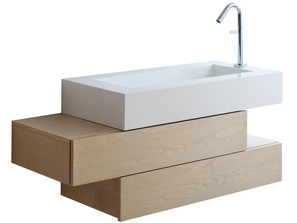 Дизайнерская навесная тумба в ванную