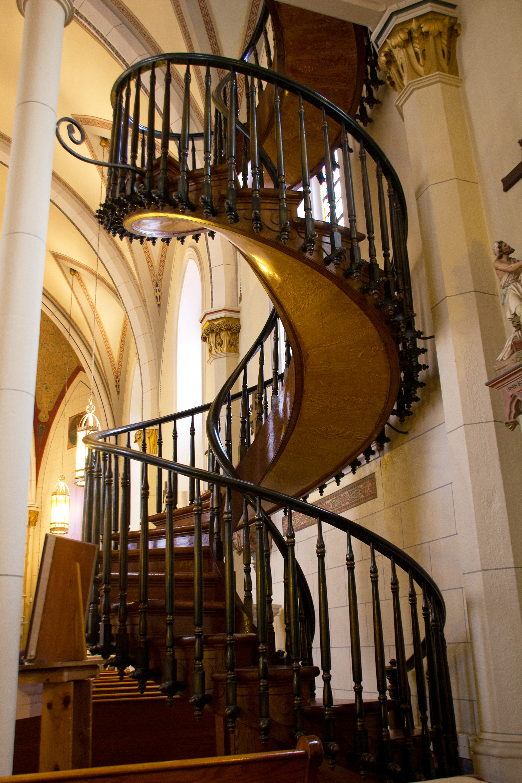 Необычный дизайн винтовой лестницы