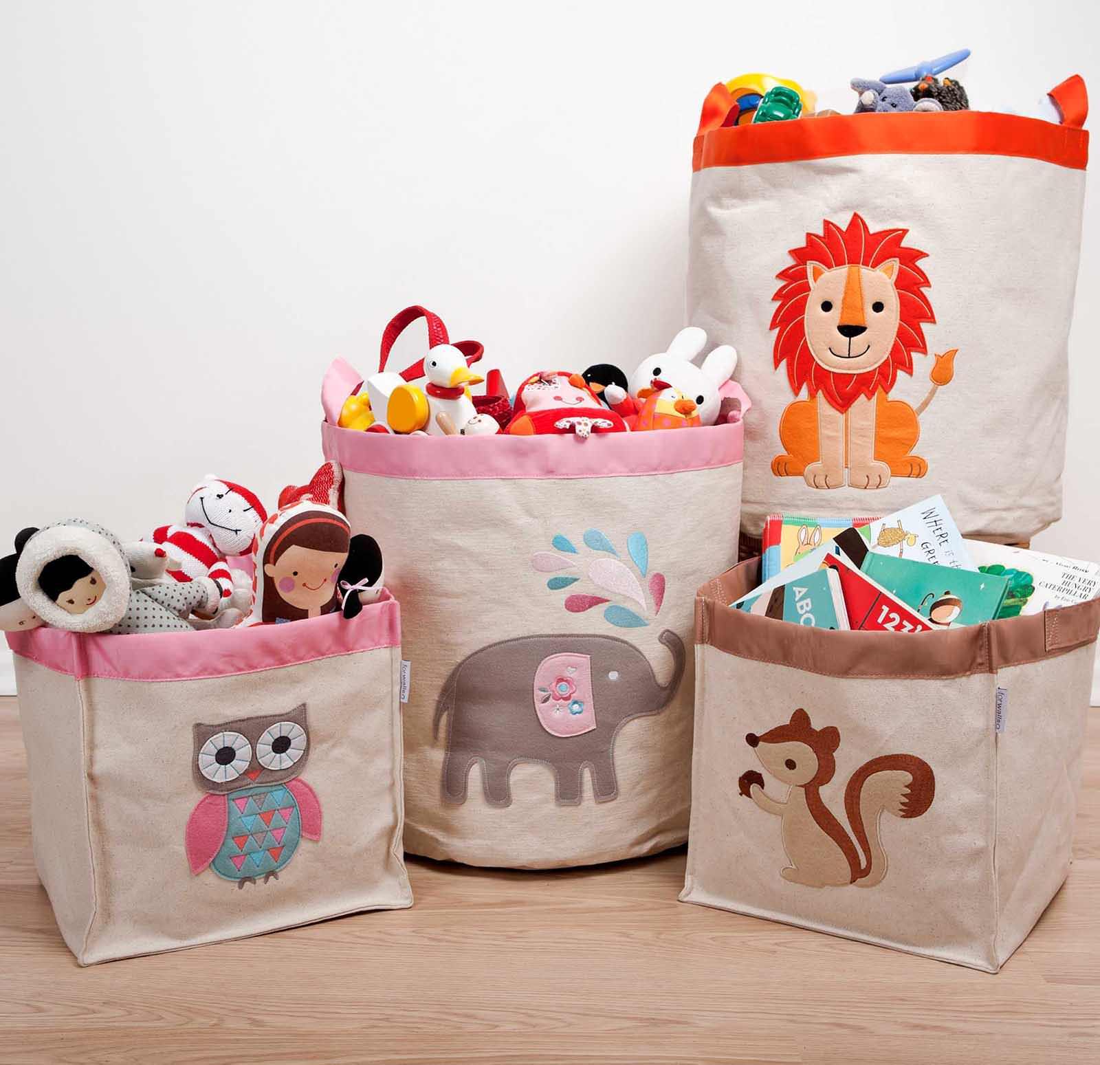 Тканевые чехлы для хранения детских игрушек