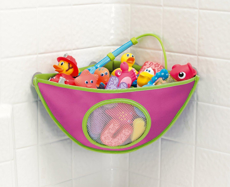 Корзина для хранения детских игрушек в ванной