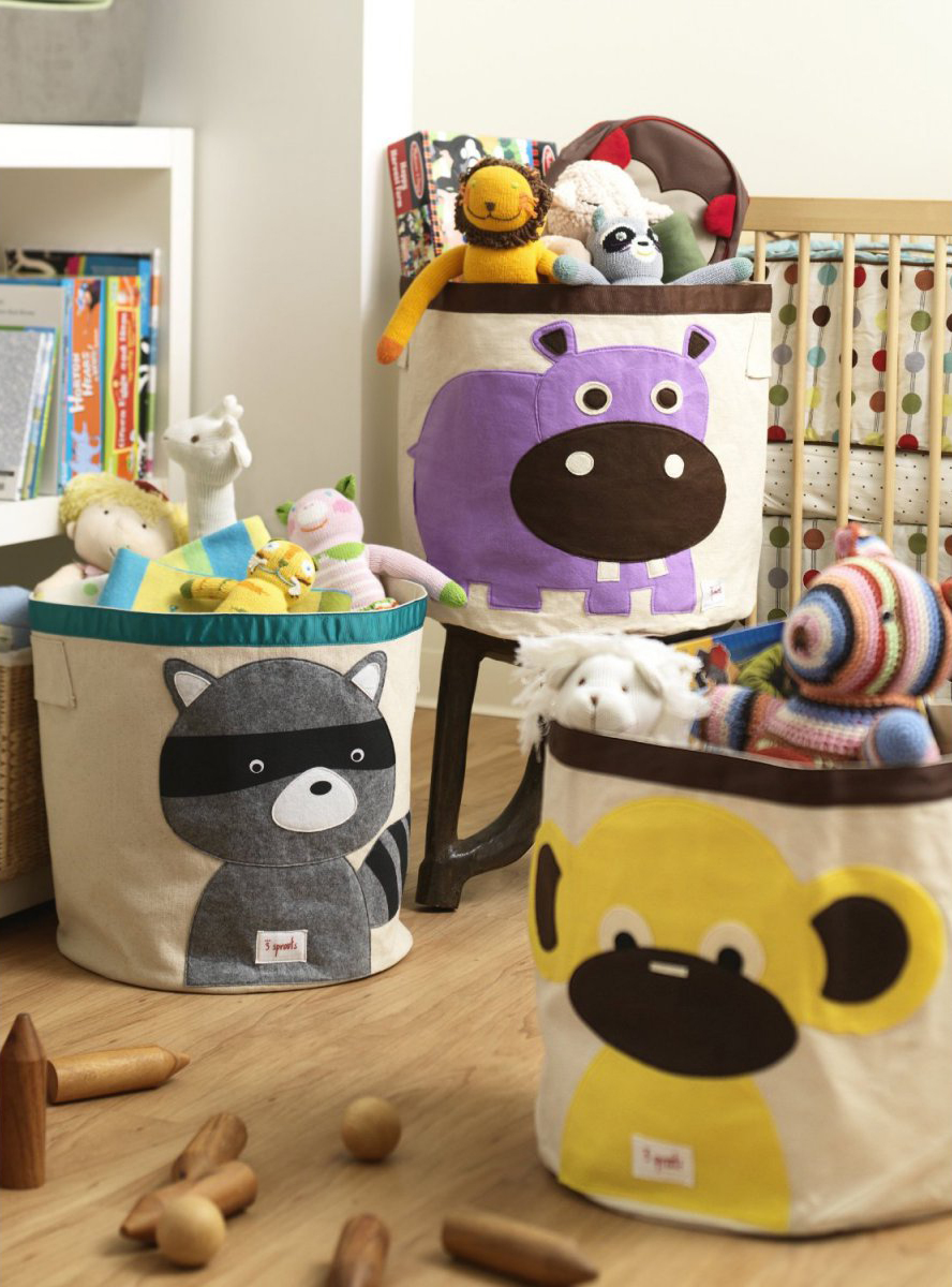 Тканевые корзины для игрушек