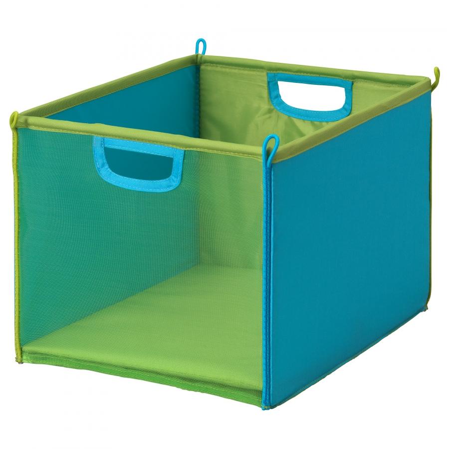 Зелено-голубая корзина для игрушек