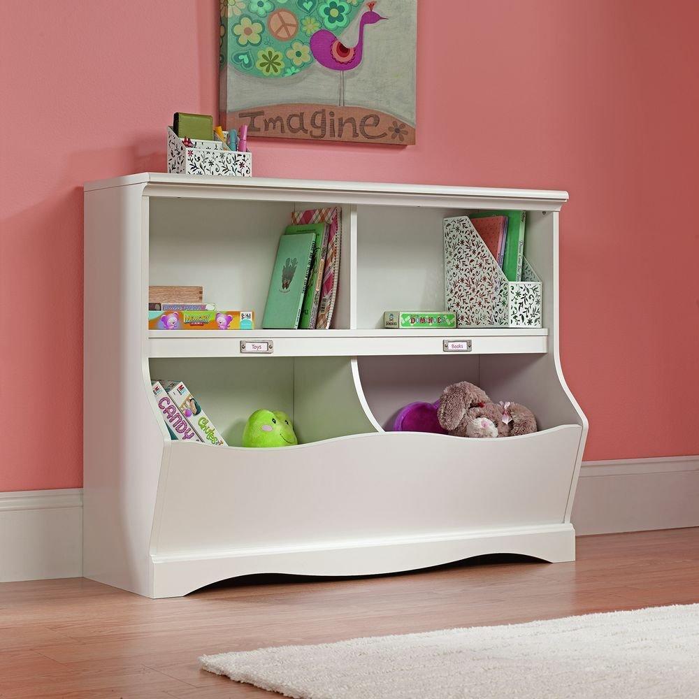 Белый комод для хранения игрушек в детской