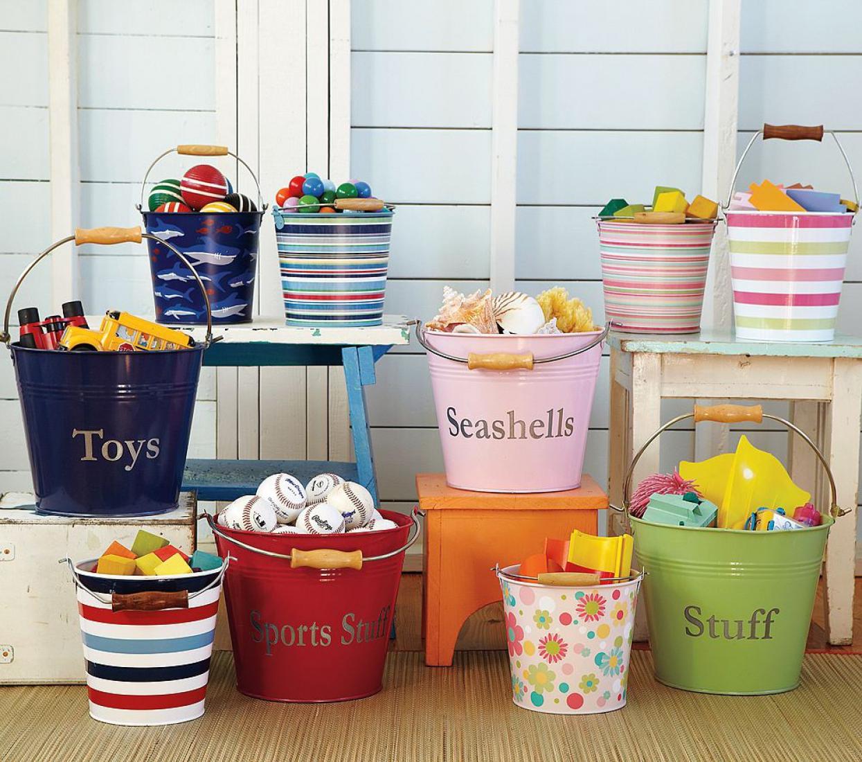 Ведра для хранения детских игрушек