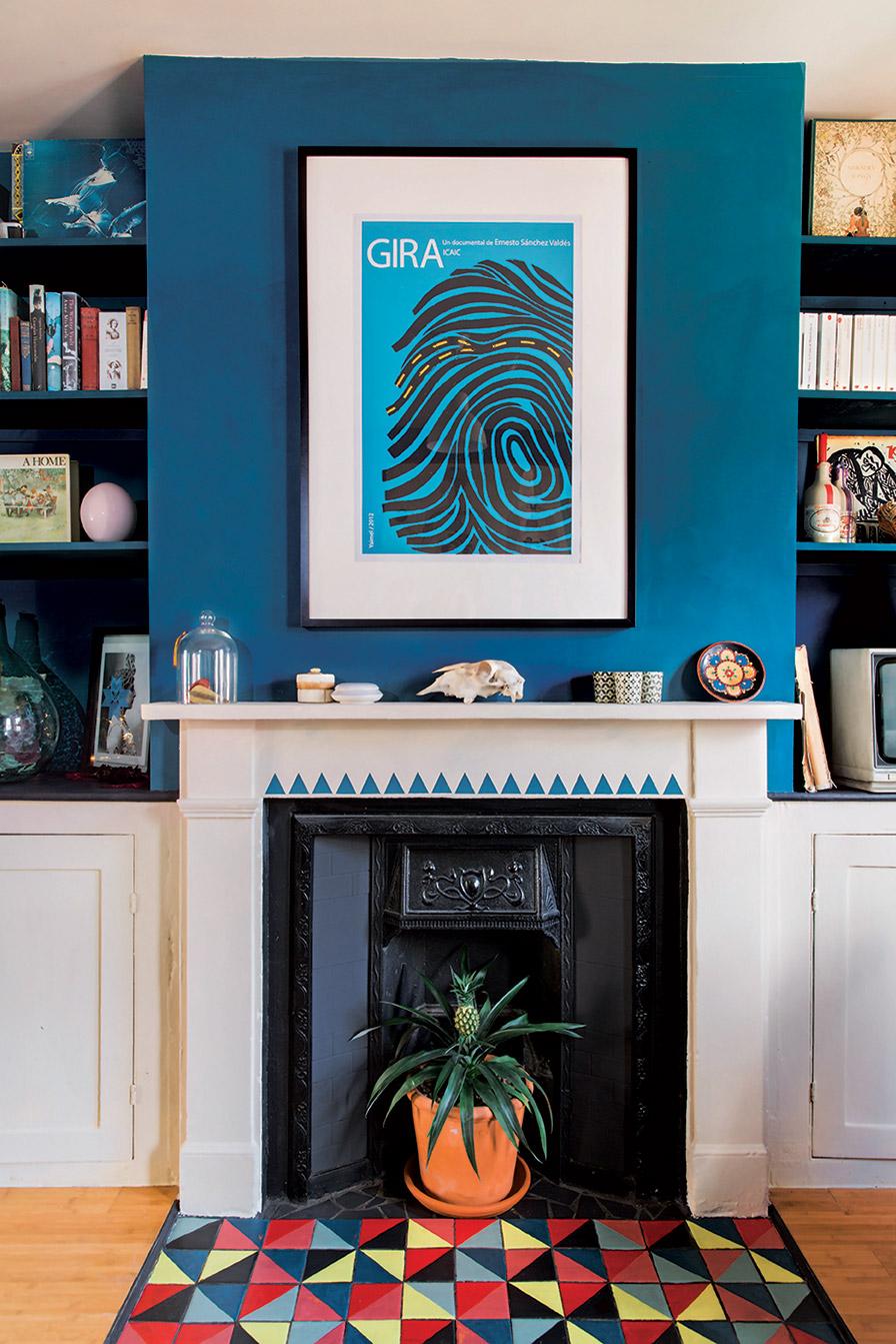 Голубая гостиная яркая