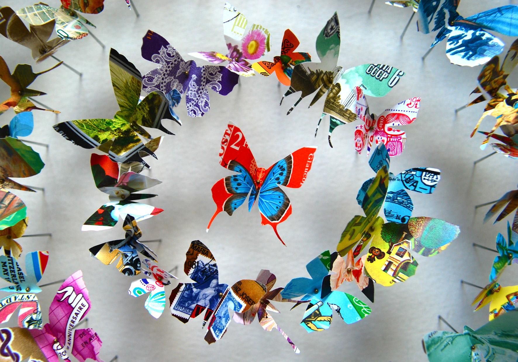 Красивые бабочки из бумаги для декора интерьера