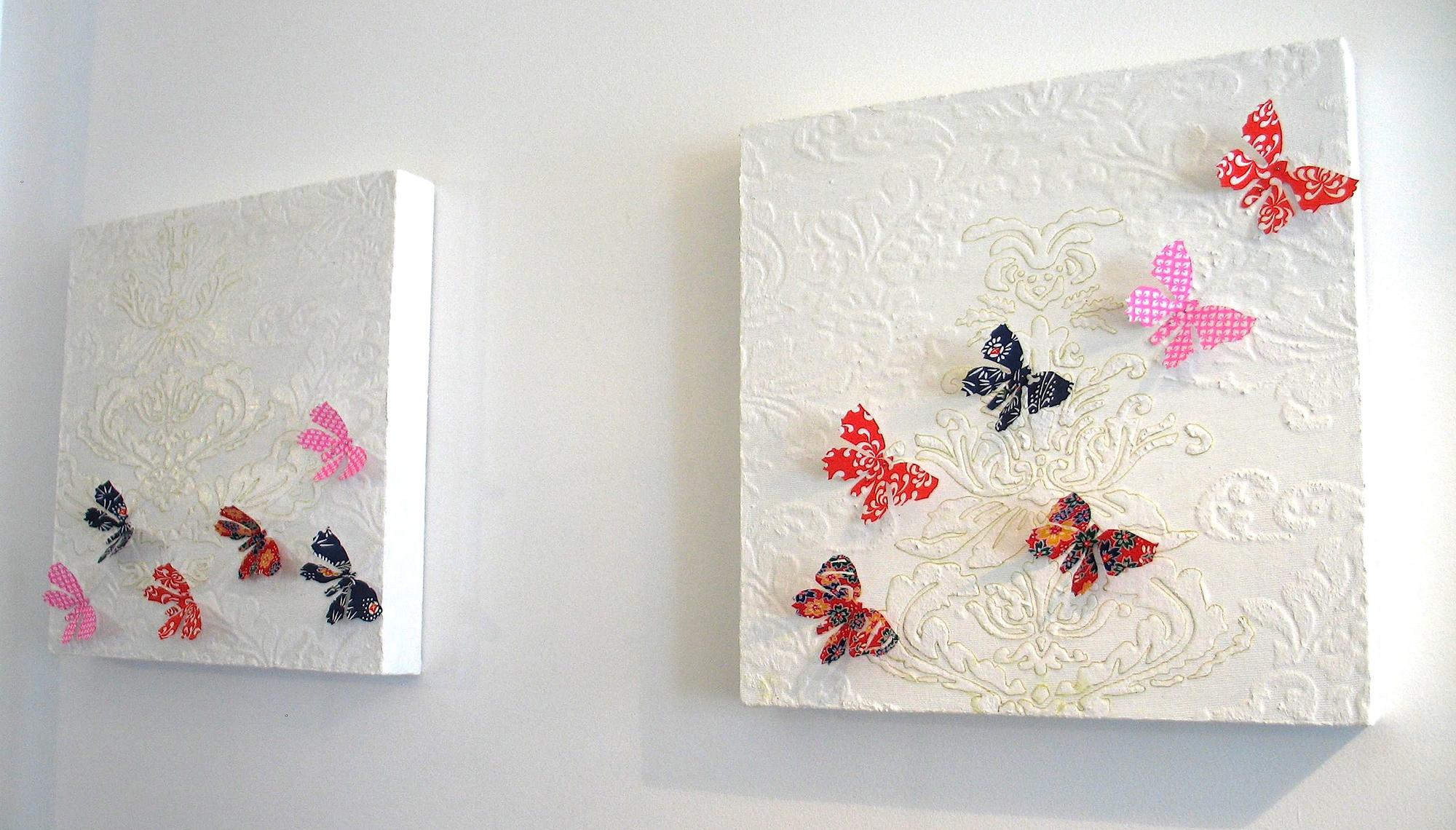 Панно с бабочками в интерьере