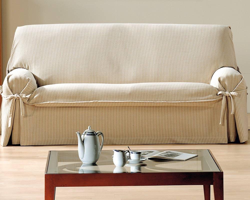 Чехол на диван с бантиком
