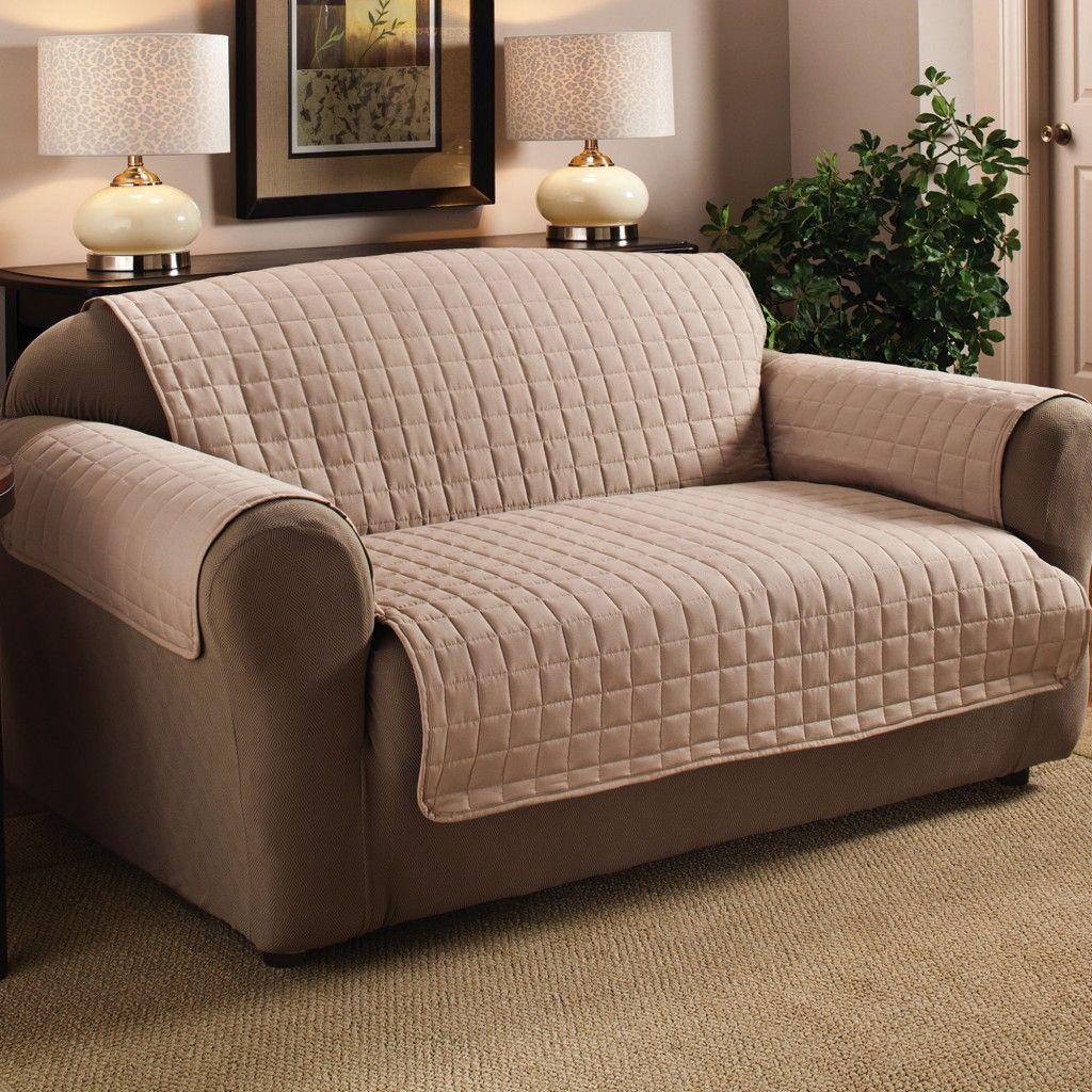 Бежевый чехол на диван