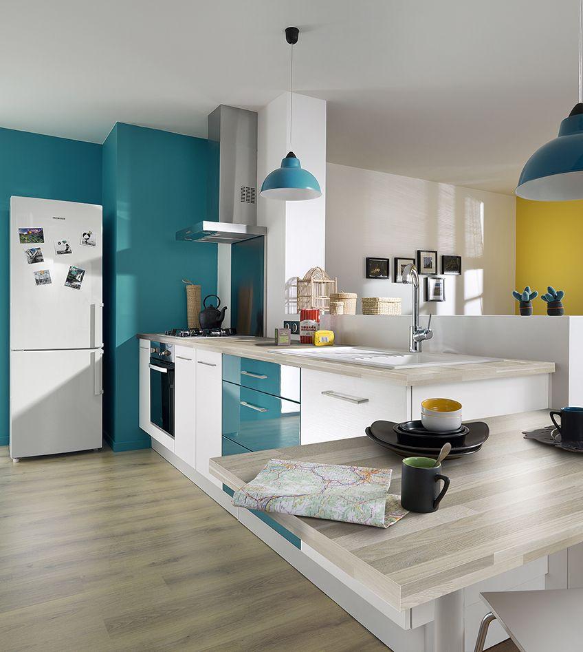 Дизайн кухни 20 кв м бирюзовый