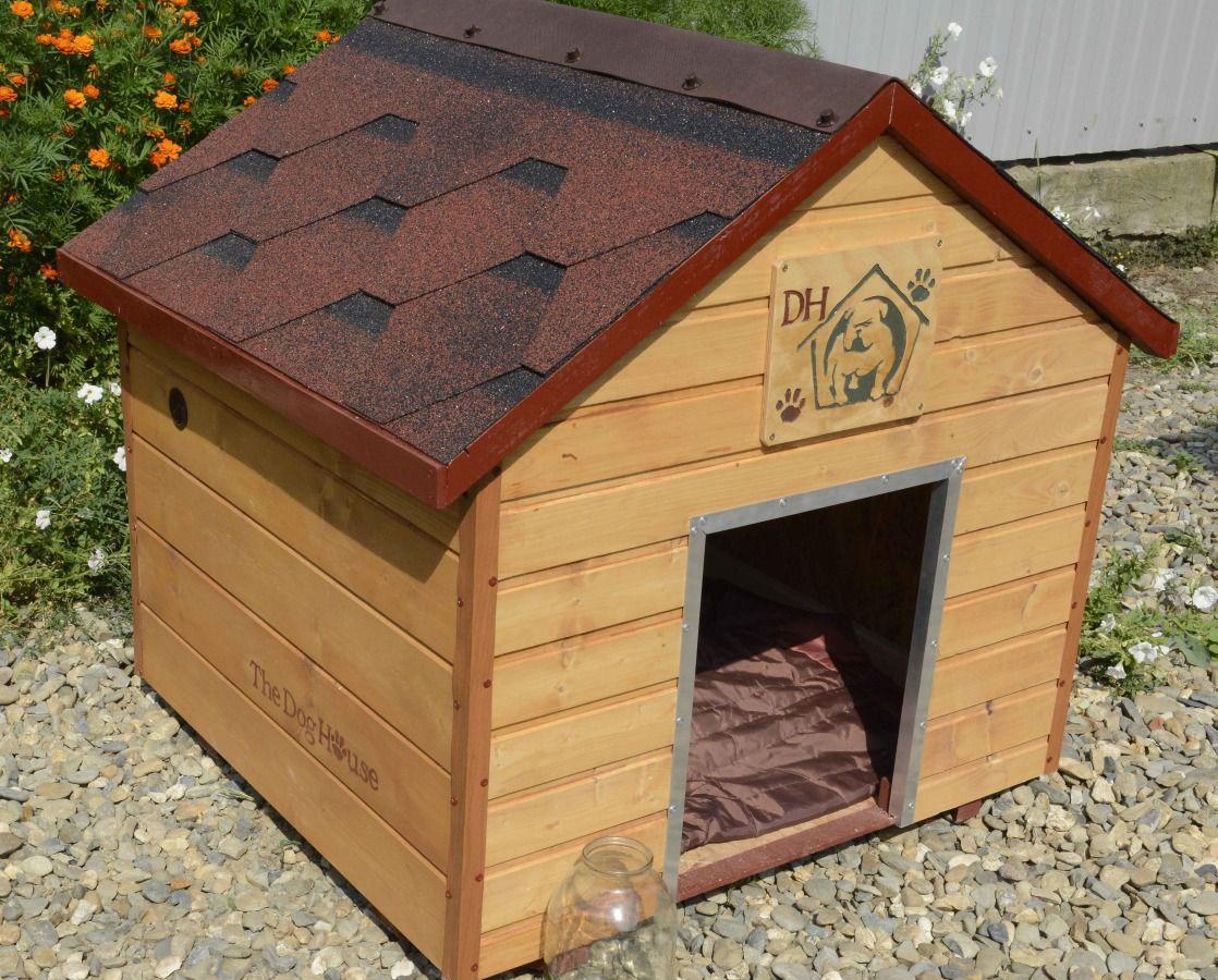 Красивая будка для собаки из вагонки