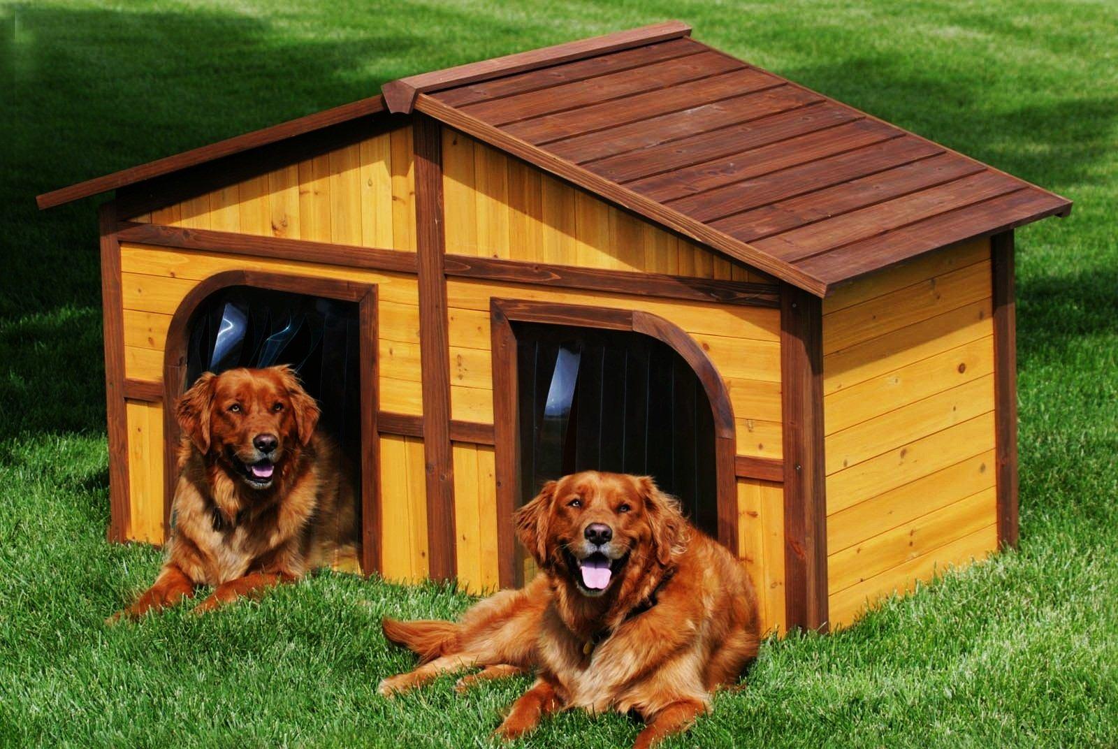 Двойная будка для собак