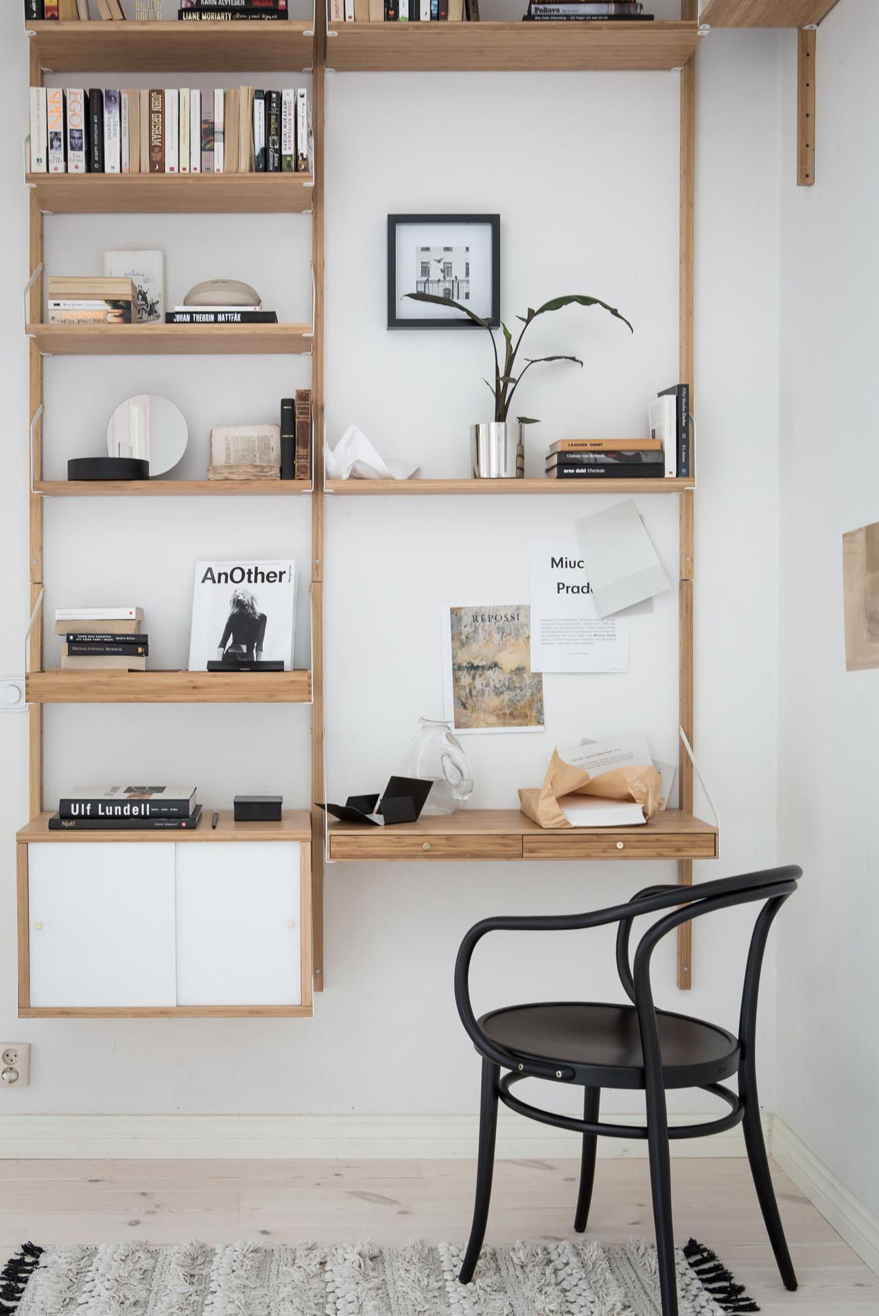 Стеллаж для гостиной с бюро