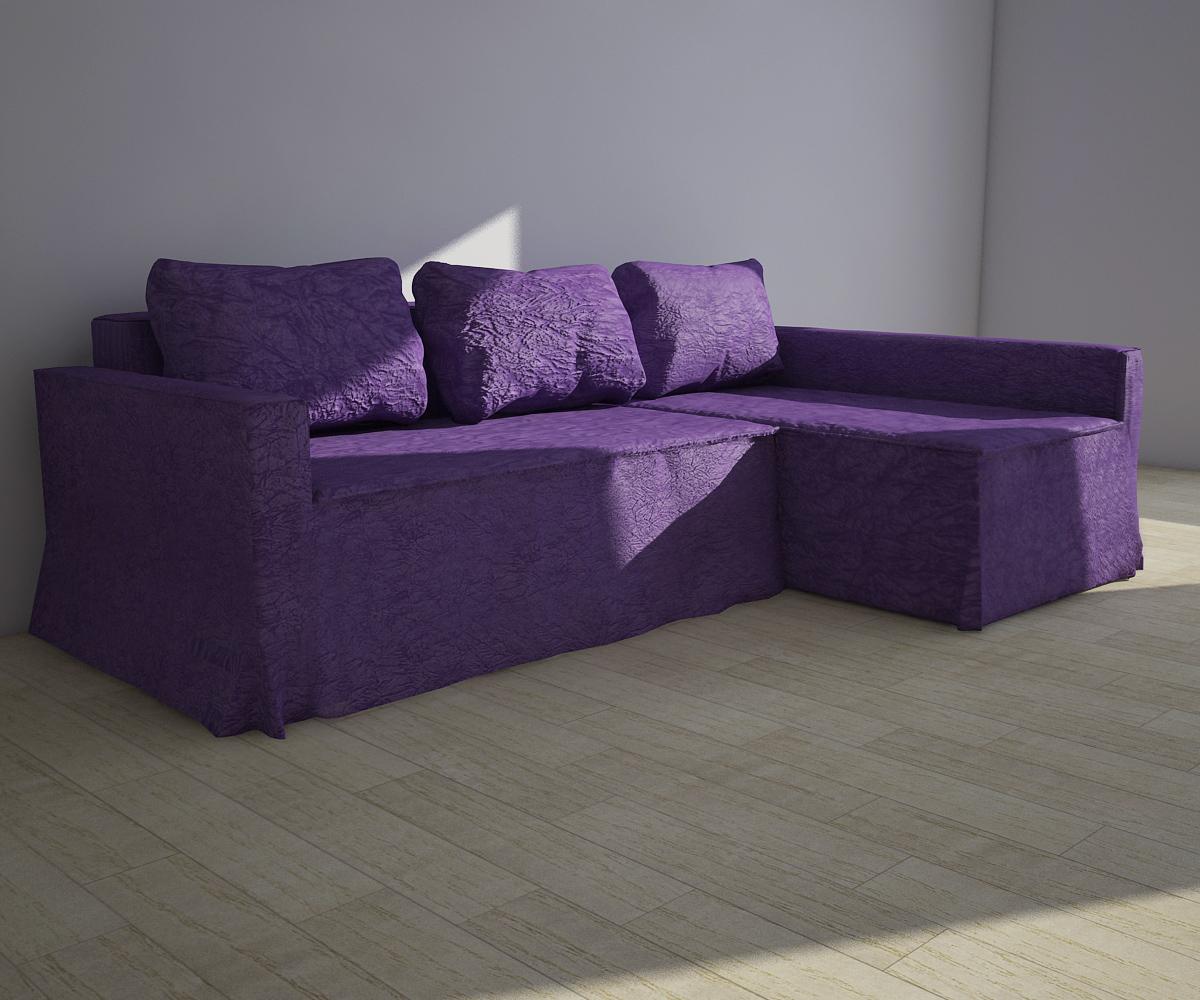 Фиолетовый чехол на диван