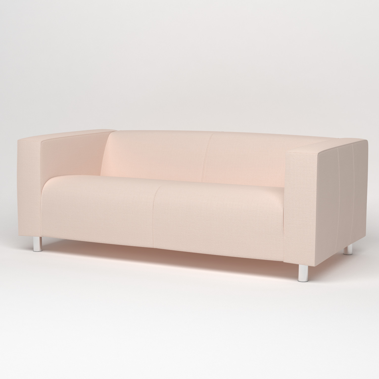 Персиковый чехол на диван
