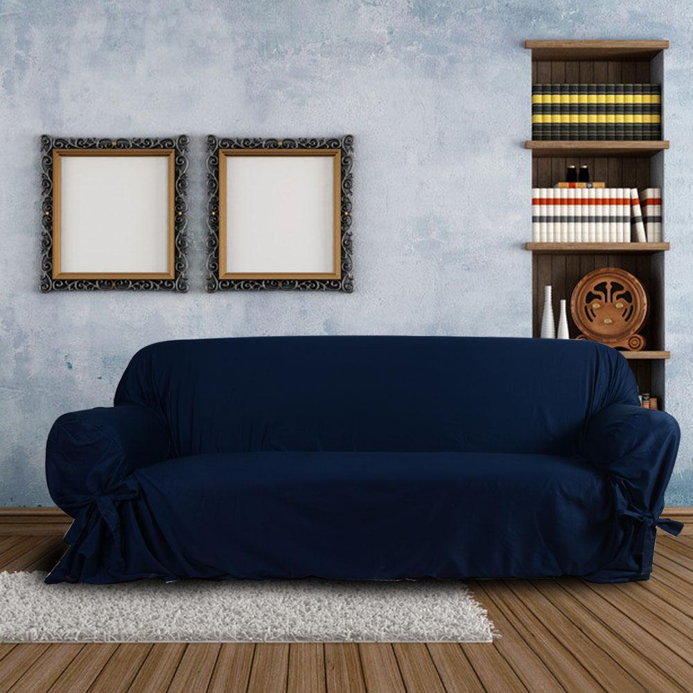 Темно-синий чехол на диван