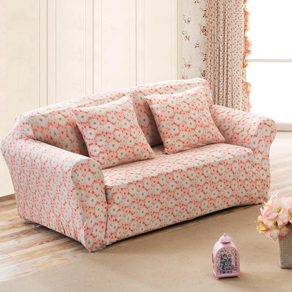 Чехол на диван с цветочным узором