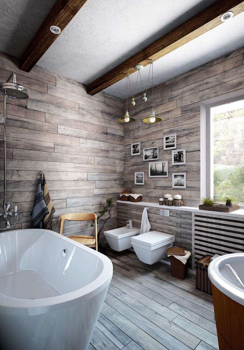 Декоративные полки в ванной