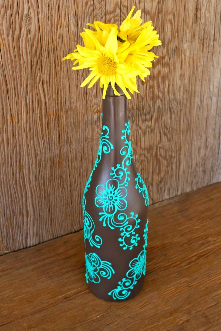 Декорирование бутылки в стиле бохо