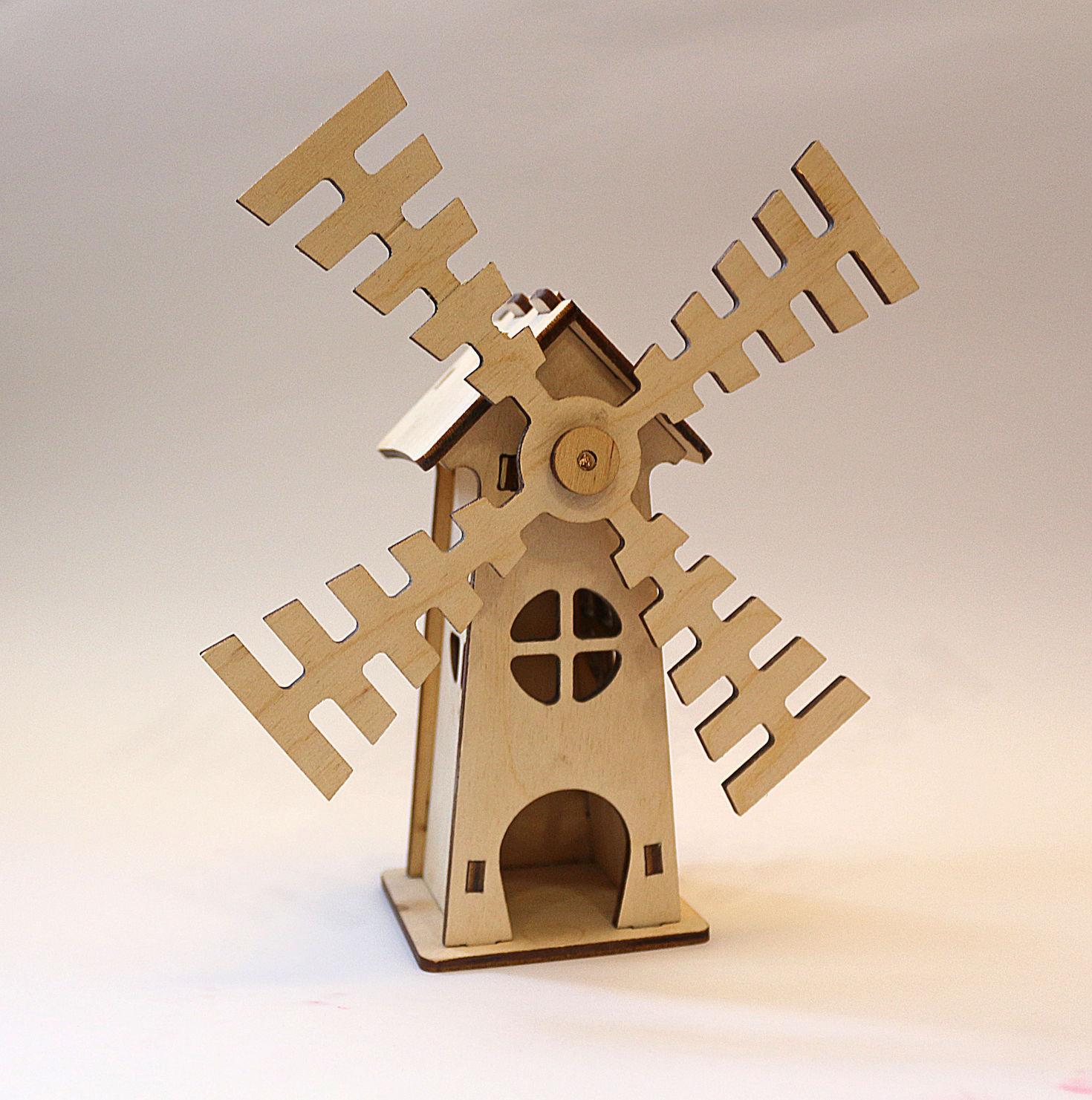 Декоративная мельница из фанеры
