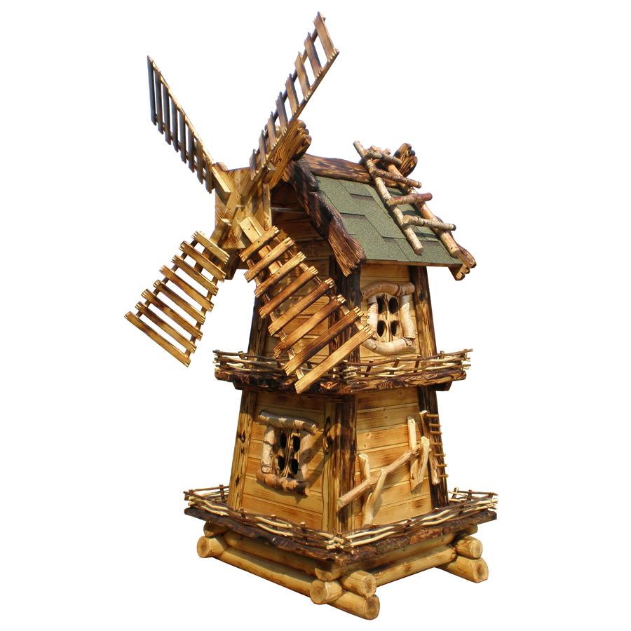 Декоративная мельница в деревенском стиле