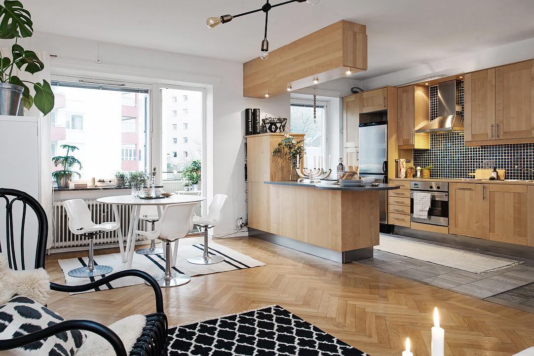 Дизайн кухни 20 кв м деревянной