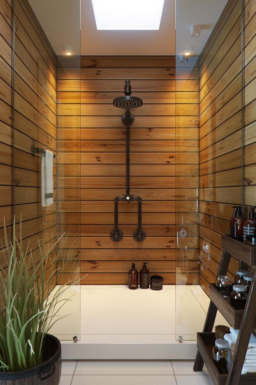 Вагонка в отделке стен ванной комнаты