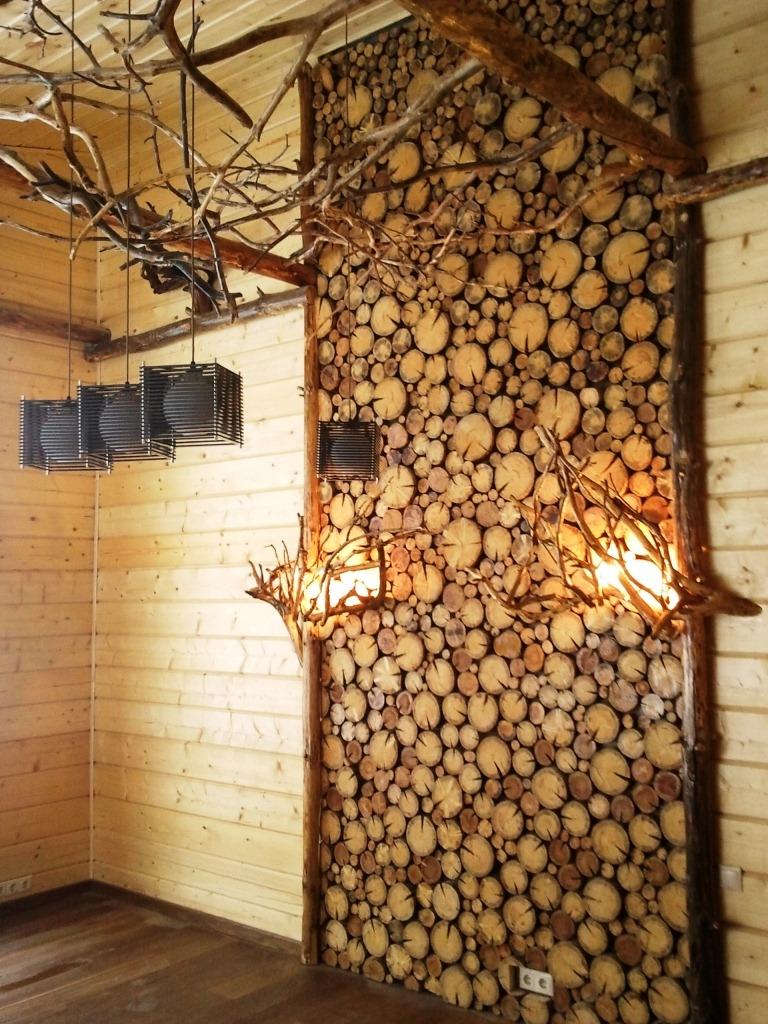Срезы дерева в отделке интерьера