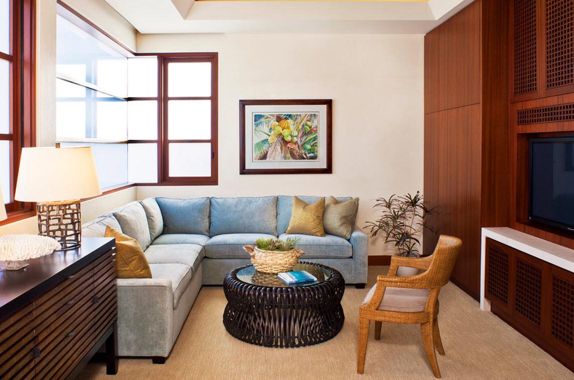 Голубой угловой диван еврокнижка