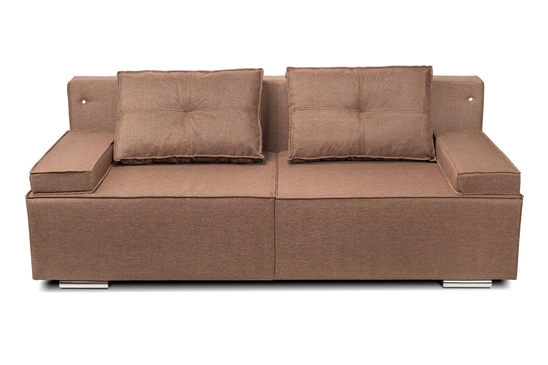 Коричневый стильный диван еврокнижка