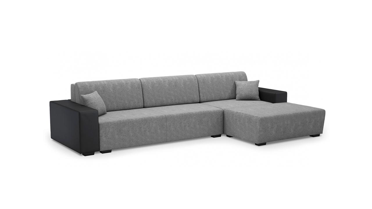 Серо-черный диван для гостиной