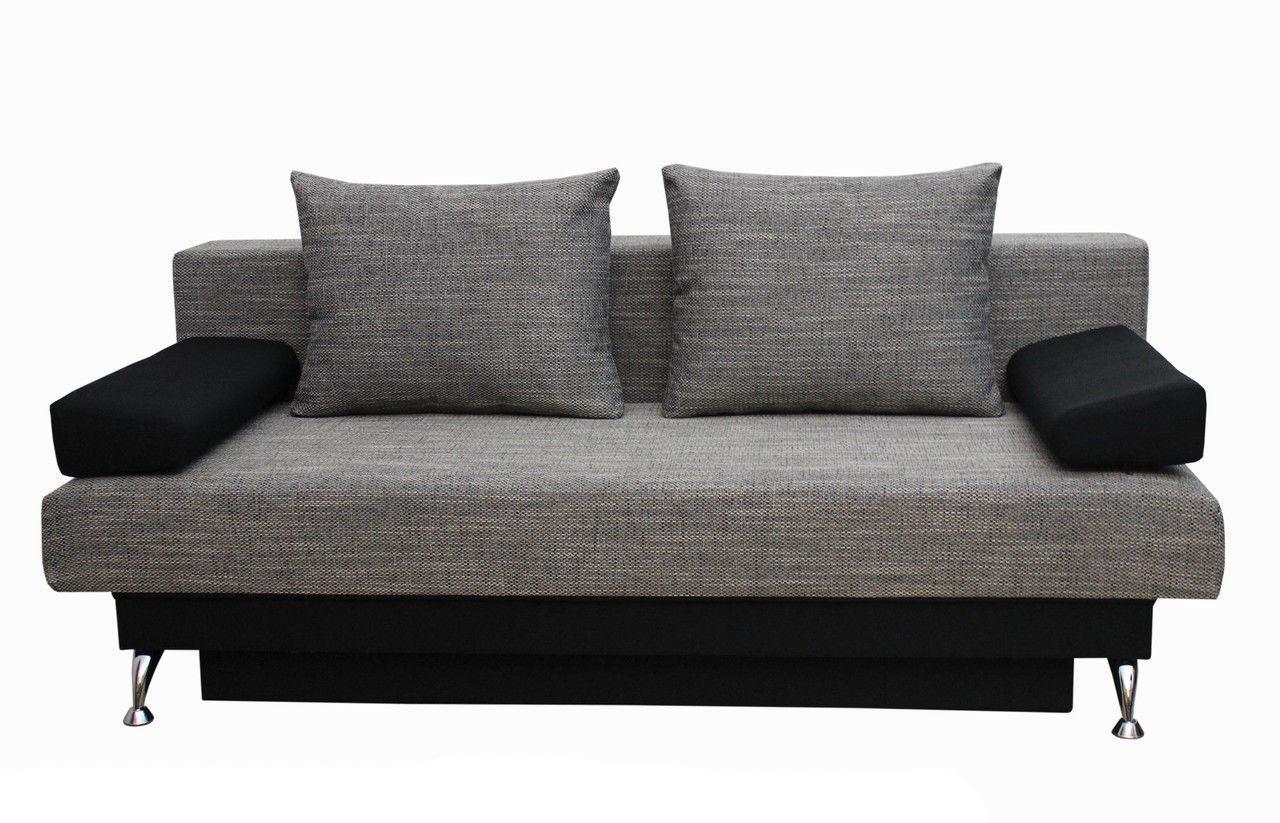 Черно-серый диван еврокнижка
