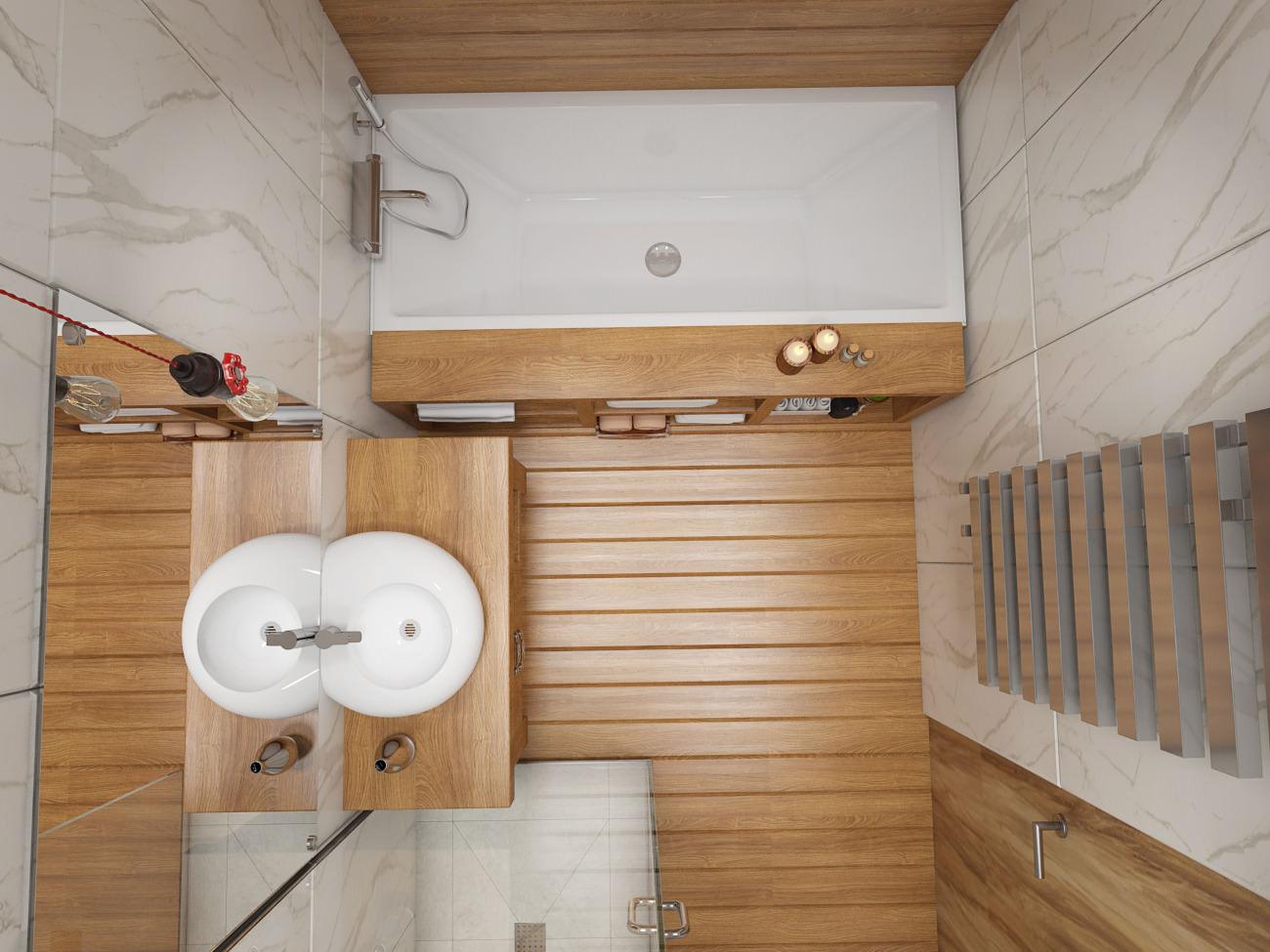 Планировка ванной комнаты 5 кв м с деревянной отделкой