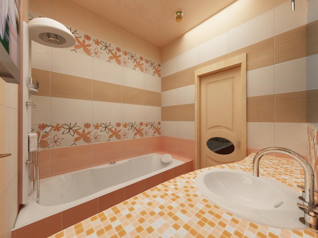 Пастельные цвета в интерьере ванной комнаты