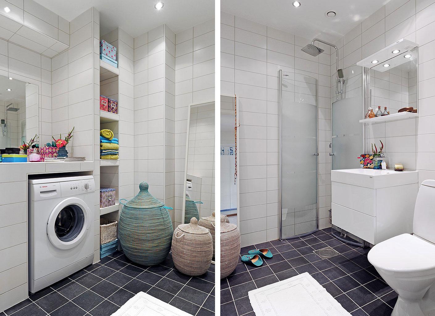 Черно-белая ванная комната 6 кв м