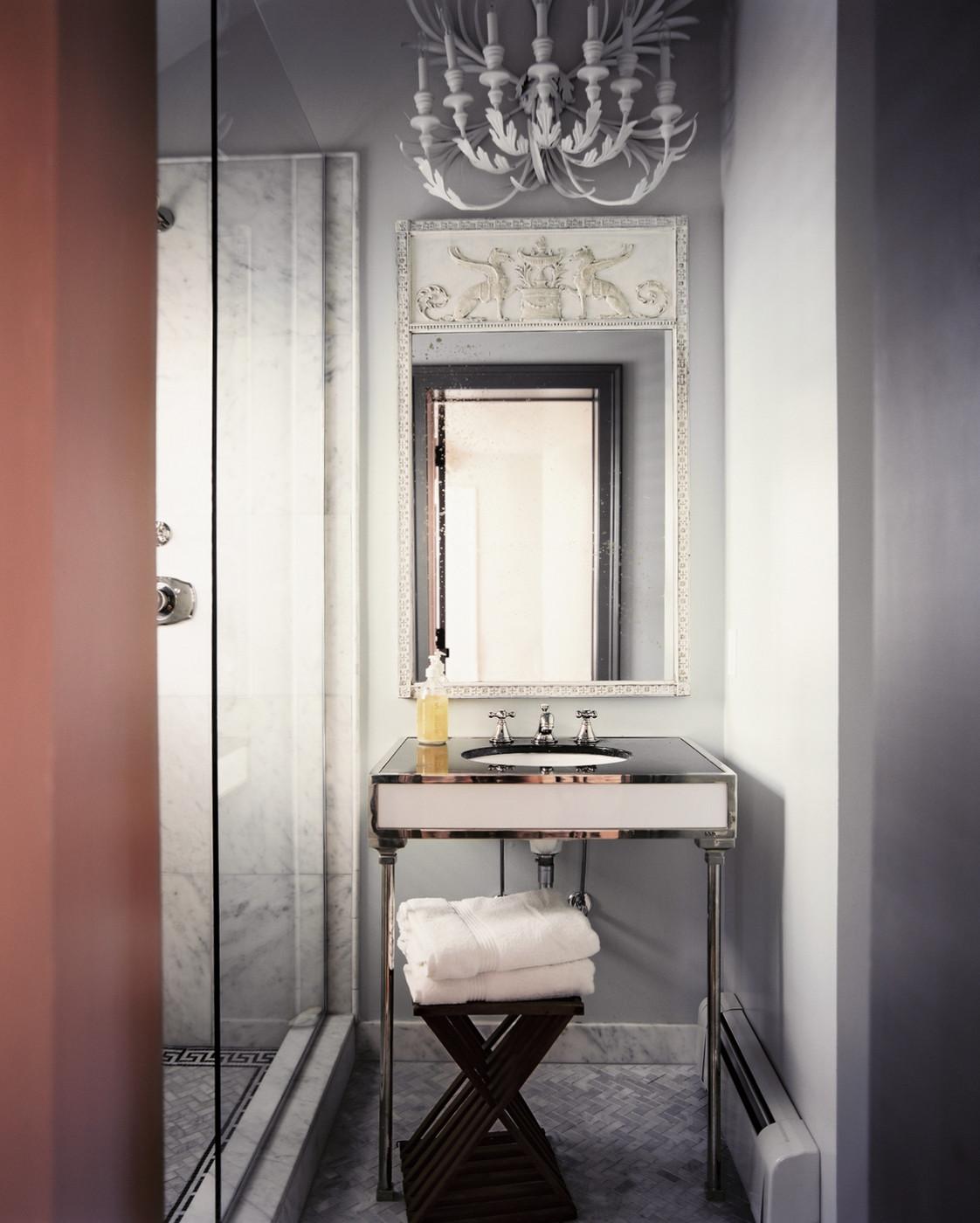 Стильная ванная арт-деко