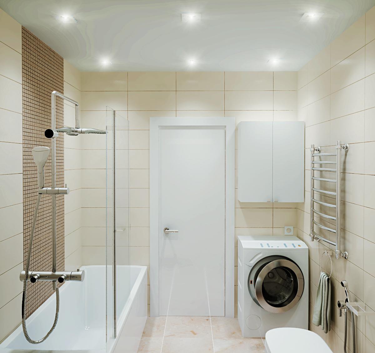 Кремово-белая ванная комната