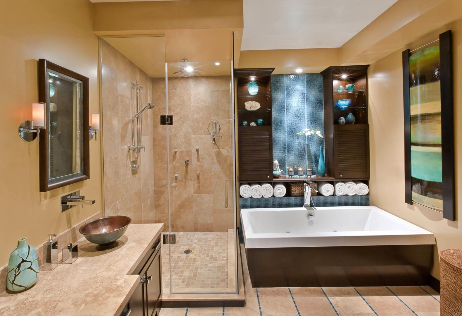 Ванна и душевая в комнате 9 кв м
