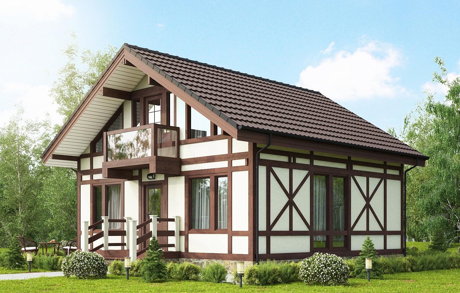 Небольшой дом в немецком стиле