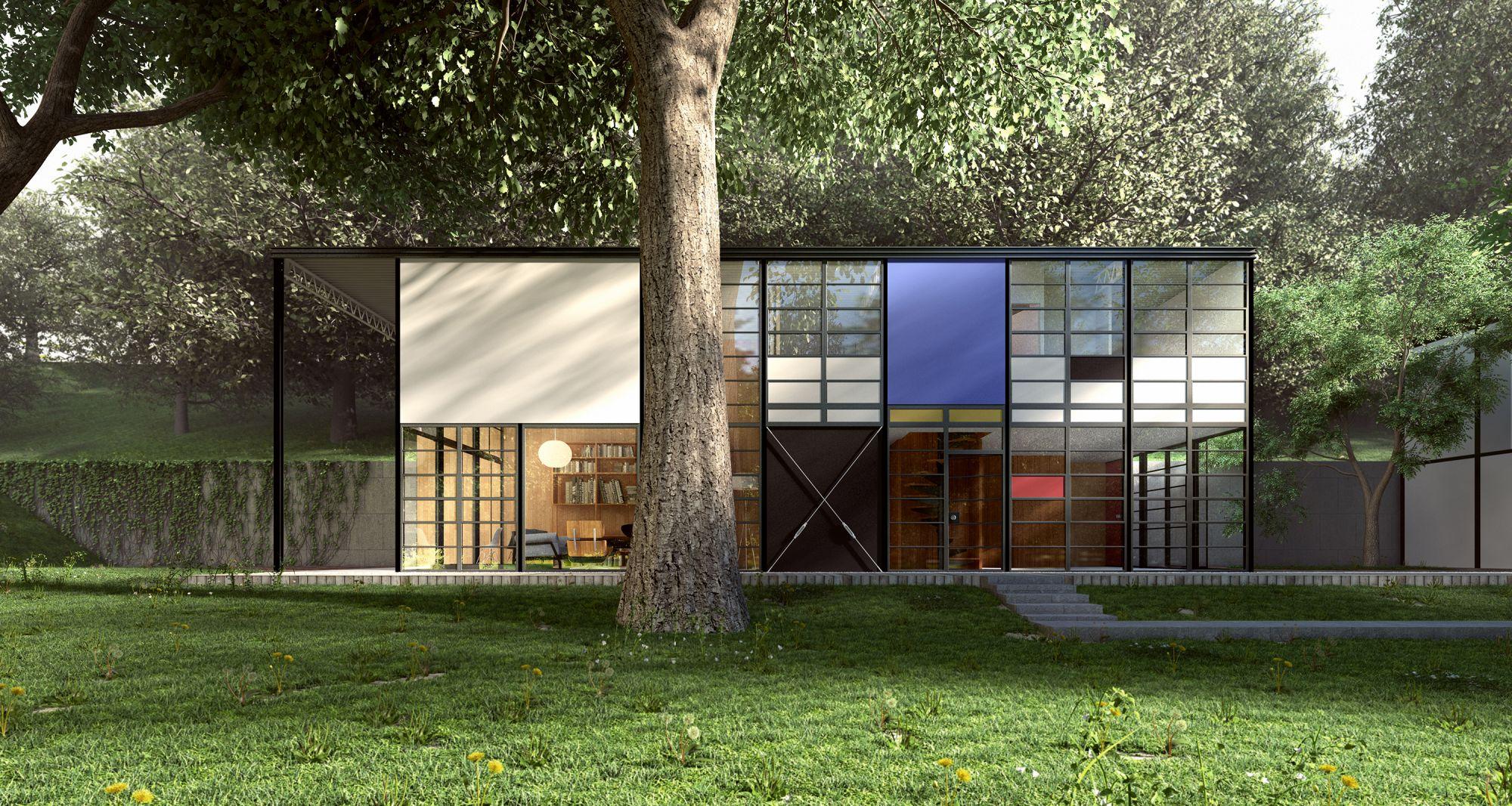 Современный двухэтажный дом в стиле модерн