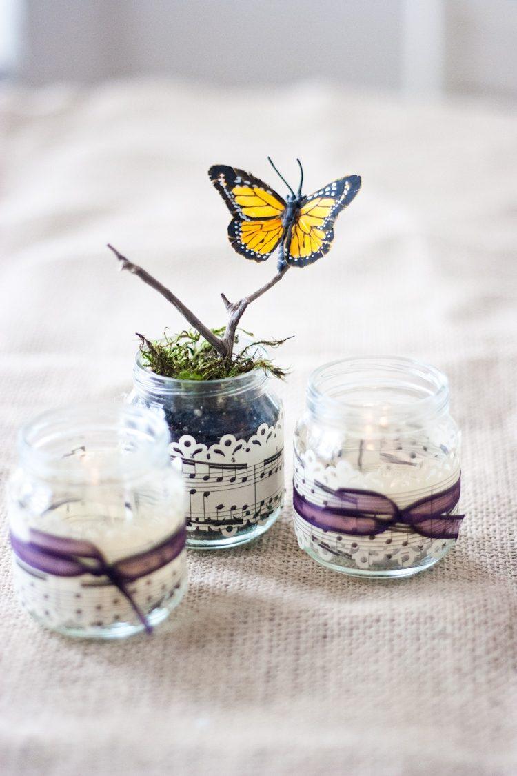 Бабочки для декора в стиле эко
