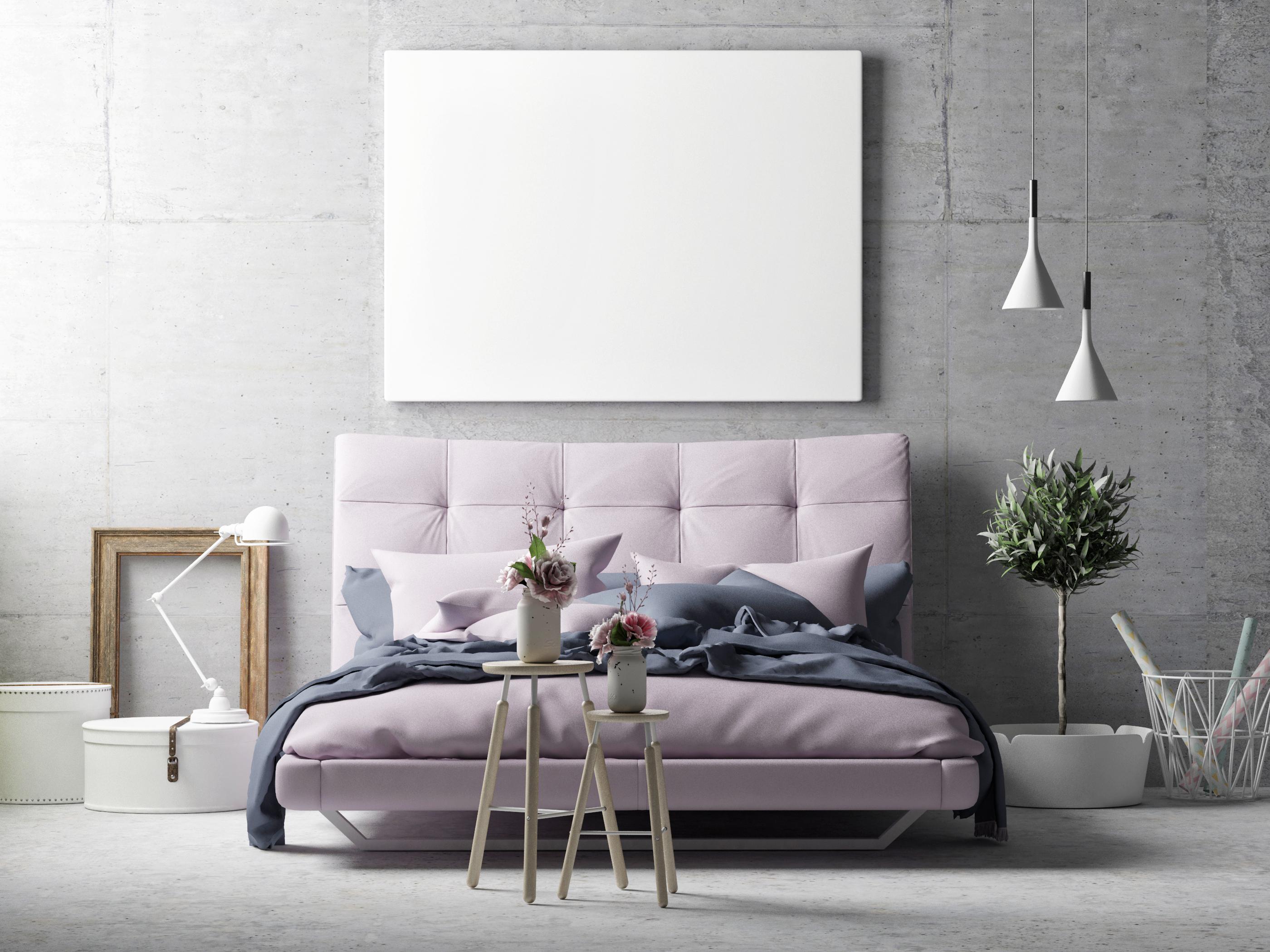 Серый и бледно фиолетовый