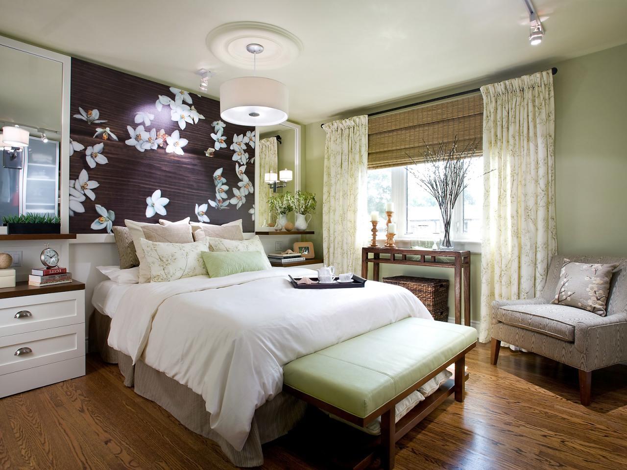 Небольшая спальня в японском стиле