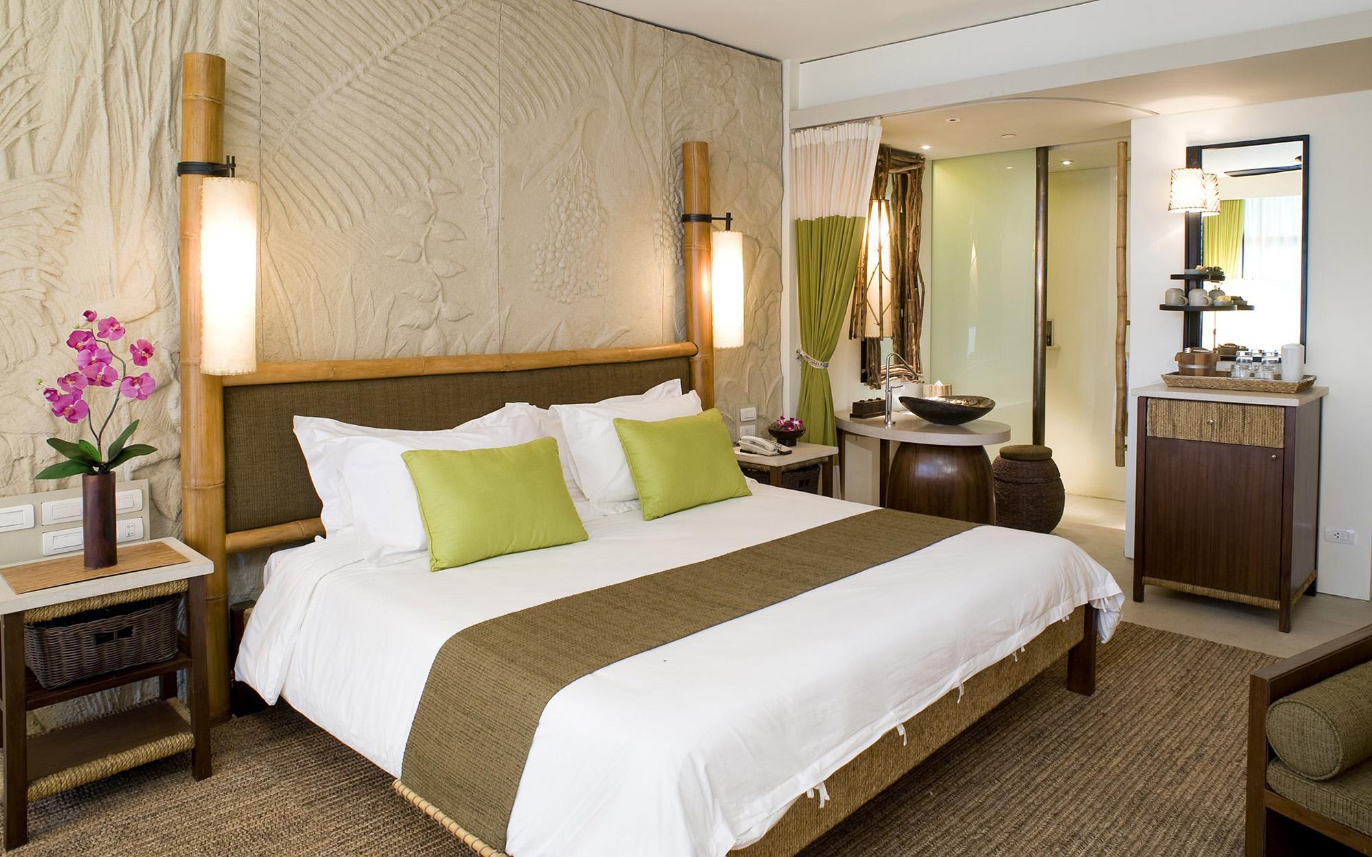 Аксессуары в спальне в эко-стиле