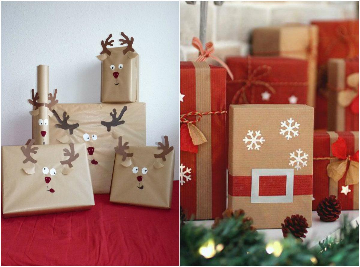 Красивое оформление новогодних подарков