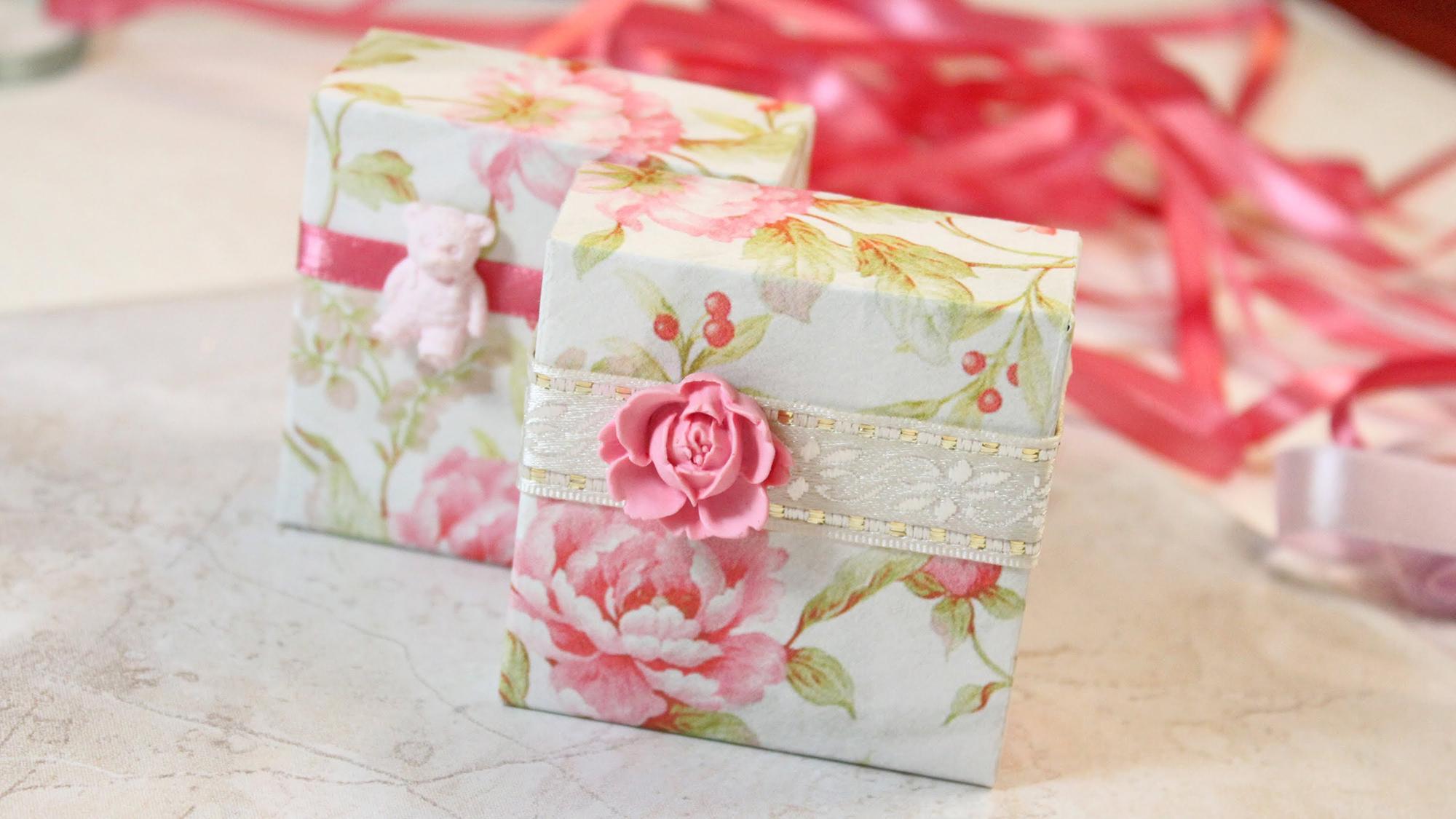 Красивое оформление подарка для женщины