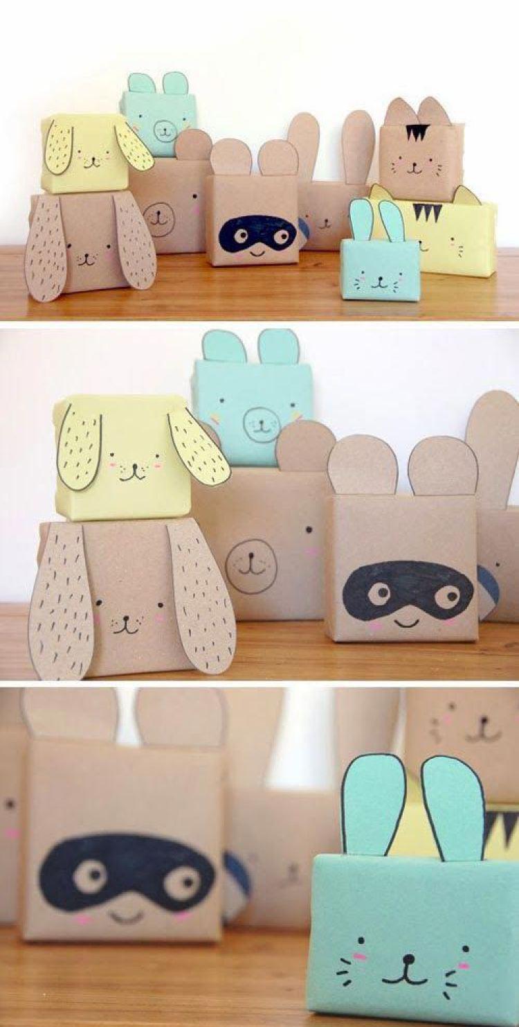 Оформление детских подарков с помощью бумаги и фломастеров